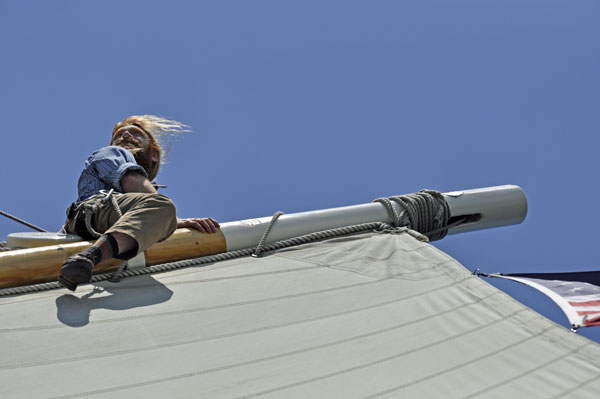 working aloft  a tall ship as a seasonal employment