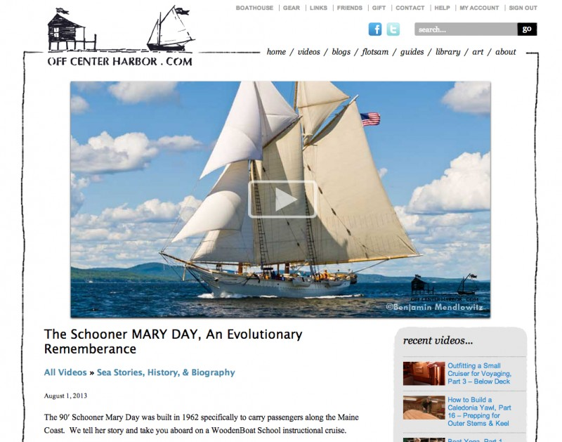 maine windjammer, cruises in Maine, maine windjammer, schooner Mary Day,