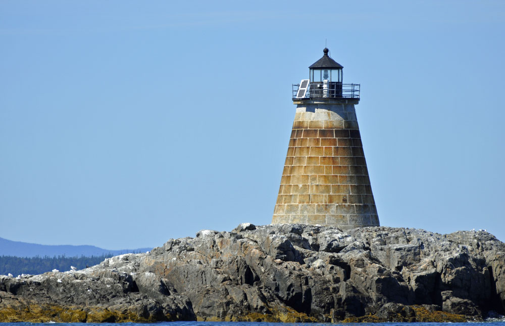 Saddleback Ledge Lighthouse, windjammer, schooner Mary Day,  lighthouse tours in Maine